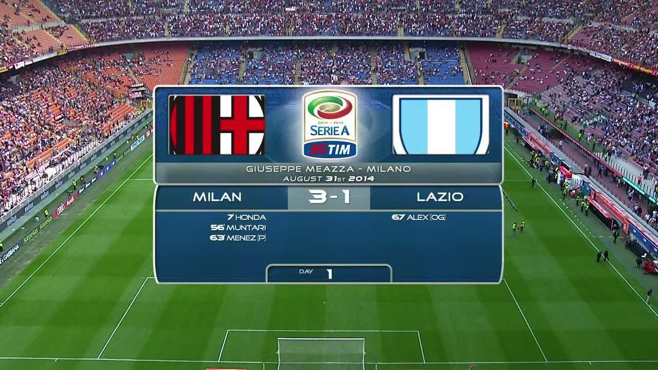 Video MILAN 3 - 1 LAZIO - Risultati e Highlights partita ...